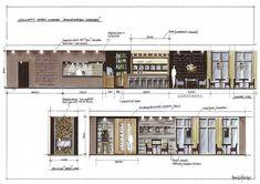 Home Decoration Design Ideas Code: 2484100651 Interior Architecture Drawing, Interior Rendering, Cafe Interior, Architecture Design, Interior Doors, Interior Design Presentation, Architecture Presentation Board, Interior Design Sketches, Plafond Design