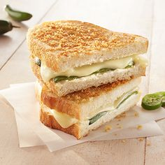 It's your favorite appetizer—in grilled cheese form. This sandwich has all the flavors of a hot jalapeno popper.