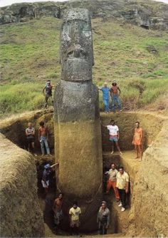Moai Statue of Easter Island. Moai Statue are Massive Monolithic Figures,Carved by Rapa Nui Peoples Around Moai Statue of Easter Island. Easter Island Moai, Easter Island Statues, Ancient Aliens, Ancient History, Tudor History, European History, British History, American History, Head Statue
