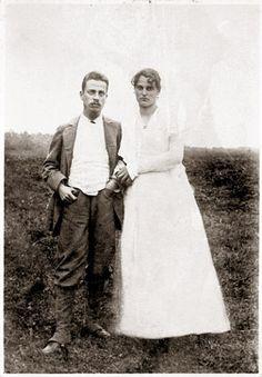 Rainer Maria Rilke und Clara Rilke-Westhoff kurz nach ihrer Hochzeit im Jahr 1901