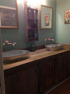 Retro Bathroom Makeovers trough sinks for bathrooms: trough nativestone bathroom trough