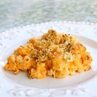 Buffalo Chicken Macaroni and Cheese - made this for college gameday and all the guests LOVED it! I was surprised to see how they loaded their plates up with this over anything else on the table. Definitely a great party or pot luck dish. I made mine in a cast iron skillet.