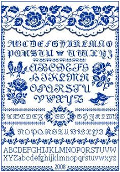 Free Cross Stitch Patterns by EMS Design. Free Project 2008 - The Rose Sampler (Part 2).