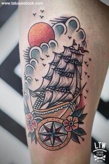 tatuajes de barcos para hombres y mujeres 5