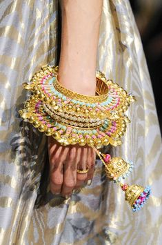 Manish Arora at Paris Fashion Week Spring 2013 - StyleBistro The Bangles, Bridal Bangles, Wedding Jewelry, Indian Bangles, Bangle Bracelets, Hand Jewelry, India Jewelry, Ethnic Jewelry, Bracelets Design