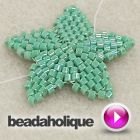 Tutorial - Videos: How to Bead Weave a Star with Brick Stitch | Beadaholique