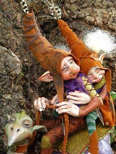 Art dolls, elves