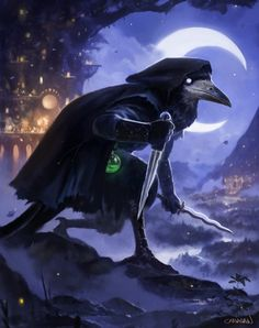 ArtStation - Humblewood - Corvum Assassin by Paul Canavan Fantasy Rpg, Fantasy Artwork, Fantasy World, Dark Fantasy, Dungeons And Dragons Characters, D D Characters, Fantasy Characters, Fictional Characters, Character Portraits