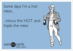 Some days I'm a hot mess... ...minus the HOT and triple the mess.