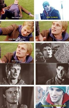 This is Colin Morgan and Bradley James in different movies smashed together with Merlin Bradley James, Merlin And Arthur, King Arthur, Fandoms, Merlin Memes, Merlin Quotes, Merlin Funny, Merlin Cast, Sherlock Quotes
