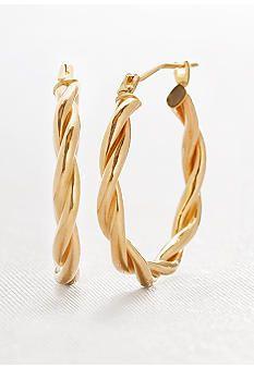 Belk & Co. 14 Karat Double Twist Hoop Earring #belk #accessories