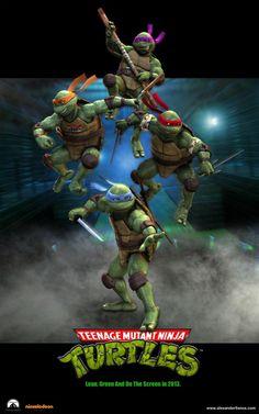 Noir Tmnt Film Officiel Teenage Mutant Ninja Turtles Logo Sweat à Capuche