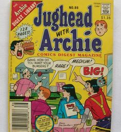Archie Digest Library - Jughead with Archie #86 May 1988 PB (81014-999) comic