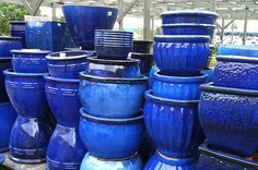 Looking for nice blue planters for the front and back door.