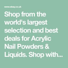 Shop from the world's largest selection and best deals for Acrylic Nail Powders & Liquids. Shop with confidence on eBay!