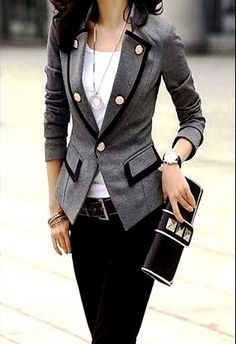 Cozy Stylish Gray Ladies Coat | Fashionista Tribe Cheap rayban.$24.88 http://www.rbglasses-eshops.com