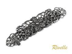 Filigrane Haarspange Vintage Jugendstil Metall Haarspange   Etsy Crown, Diamond, Bracelets, Etsy, Vintage, Hair, France, Jewellery, Fashion