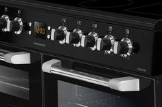 Leisure Cuisinemaster Electric range cooker black close up CS100C510K 100cm