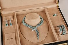 A Suite of Emerald and Diamond Jewellery, By Bvlgari Jewelry Store Design, Jewellery Display, Jewelry Shop, Jewelry Stores, Jewelry Accessories, Jewelry Necklaces, Jewelry Packaging, Jewelry Branding, High Jewelry
