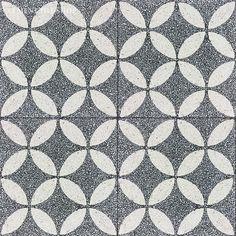 Cement Tile Shop   Encaustic Cement Tile Circulos Black Terrazzo