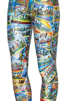 Wish You Were Here Leggings (48HR) by Black Milk Clothing $75AUD