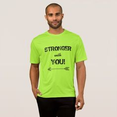 STRONGER with You Sweetheart Tshirt Lime Shock - typography gifts unique custom diy