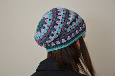 Granny csíkos sapka | Beanie, Sewing, Hats, Blog, Fashion, Moda, Dressmaking, Couture, Hat