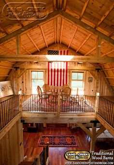 Interior Loft - Sand Creek Post & Beam - Traditional Wood Barns and Post & Beam Homes, via Flickr.