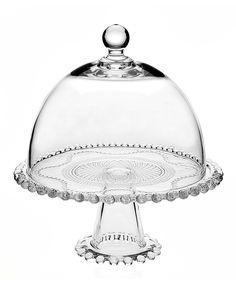 Chesterfield 10.25'' Cake Pedestal & Dome. Love the beaded edge!