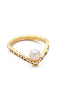 Vita Fede Ultra Mini V Pearl & Crystal Ring $280 http://www.shopbop.com/ultra-mini-crystal-pearl-ring/vp/v=1/1541812062.htm?fm=search-viewall-shopbysize&extid=affprg_CJ_SB_US-2975314-rewardStyle-4441350