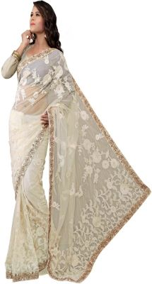 Krishna Fab Self Design Bollywood Handloom Net Sari - Buy White Krishna Fab Self Design Bollywood Handloom Net Sari Online at Best Prices in India | Flipkart.com