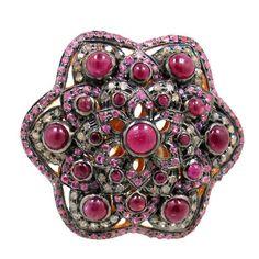 14k Gold Ruby Wedding Ring 925 Sterling Silver Diamond Sapphire Vintage Jewelry   eBay