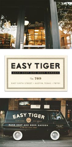 identity design for Easy Tiger by Land
