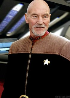 Captain Picard with a goatee | Image via Pinterest