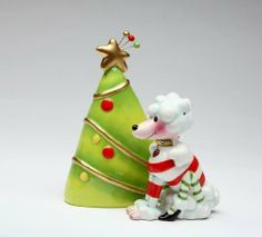 Appletree Design Ruby the Dog and Christmas Tree Salt and Pepper Set, 4-1/2-Inch by Appletree Design inc. $10.17. Functional and decorative salt and pepper set. Unique and colorful, add fun and whimsy to your kitchen and home décor. Hand wash only, do not put in dishwasher. Comes gift boxed, will make a great gift for yourself or someone special. Ceramic and dolamite material. constructed with quality and durability in mind.. Appletree Design is noted for its collection ...