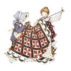Vintage Holly Hobbie illustrations blog in Spanish
