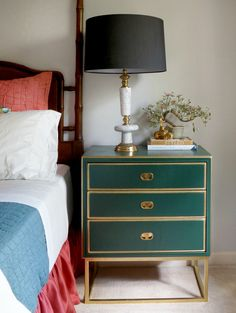 DIY Metal Base Night Stand | Maggie Overby Studios