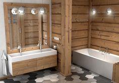 Bathroom Floor Plans, Bathroom Flooring, Modern Furniture, Furniture Design, House In The Woods, Bathtub, Poland, Home Decor, Interiors