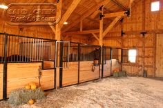Horse Stalls - Sand Creek Post and Beam Traditional Barns
