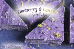 Blueberries and lemon are a match made in heaven. They dance and twirl on the taste buds creating an exquisite medley of flavours. In this recipe, I've added them to one of my all time trusted and favourite ingredients: 'creamed coconut', to create a decadent, soft fudge. It's very rich, yet you needn't feel guilty,
