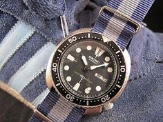 "NEW DC VINTAGE WATCHES AUCTION: Vintage 1979 Seiko 6309-7040 ""Turtle"" Automatic Diver, w/Crown&Buckle NATO Strap"