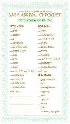 Checklist for hospitalization. So practical! … Checklist for hospitalization. So practical! Checklist for hospitalization. So practical! … Checklist for hospitalization. So practical! Hospital List, Hospital Checklist, Hospital Bag, Baby Checklist, Getting Ready For Baby, Preparing For Baby, Baby On The Way, Our Baby, Baby Baby