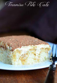 Tiramisu Poke Cake | willcookforsmiles.com #cake #tiramisu #pokecake #whitecake