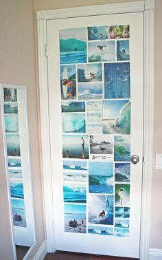 Pictures on door