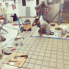 #thismasterpeiceisallmostfinished #quarrylife #quarrytile #aac #foodservice #construction #floors #tile #tileaddiction #whoneedssubs #inhouse by albertalanllc