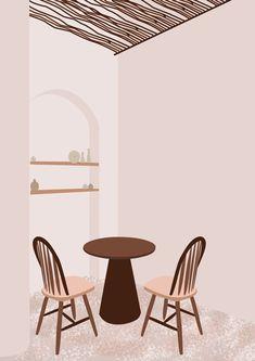 #illustration #flatillustration #modernillustration #nudecolour #aestheticillustration #aesthetic #flatdesignillustration #flatdesign #flatartillustration Flat Design Illustration, Illustration Art, Nude Color, Interior, Modern, Flat Illustration, Trendy Tree, Indoor, Interiors