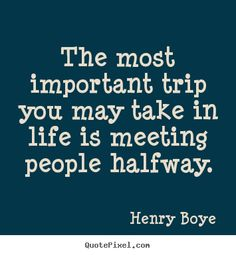 The most important trip.........