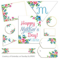 vintage floral mother's day printables