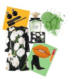 """""""#25 D&G floral print"""" by ruby-darke on Polyvore featuring Smashbox, Dolce&Gabbana, Gianvito Rossi and Lime Crime"""