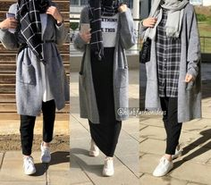 ideas for style hijab casual 2019 Modern Hijab Fashion, Street Hijab Fashion, Muslim Fashion, Fashion Outfits, Fashion Fashion, Travel Fashion, Fashion Quotes, Hijab Fashion Style, Trendy Fashion
